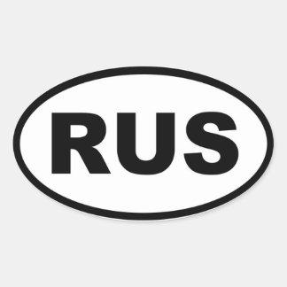 Europeo de Rusia RUS Pegatina Ovalada