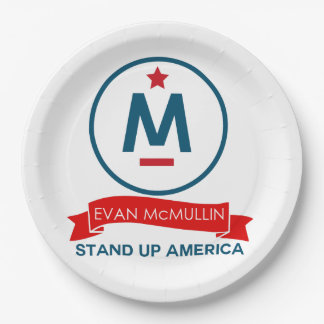 ¡Evan McMullin - levántese América! Plato De Papel