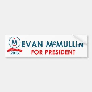 Evan McMullin para el presidente Pegatina Para Coche