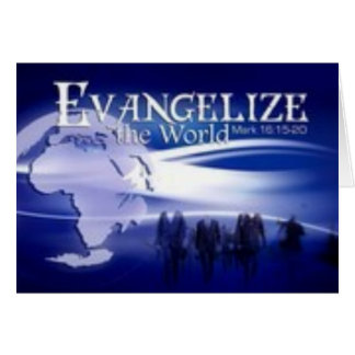 evangelice el mundo tarjeta