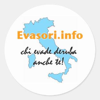 Evasori.info: piccoli del adesivi pegatina redonda