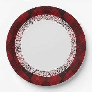 Everyday_Dinner_Paper-Plates (c) Joya-Rojo-Argyle Plato De Papel