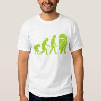 Evolución androide camisas