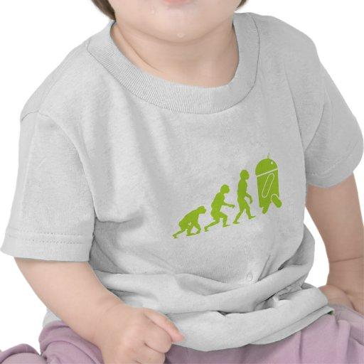 Evolución androide camisetas