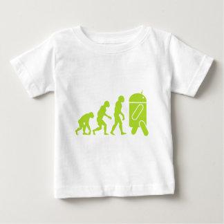Evolución androide camiseta de bebé