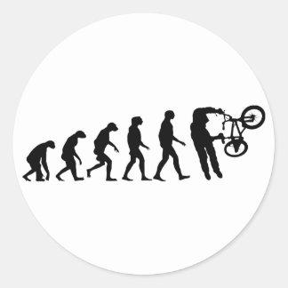 Evolución de BMX Pegatina Redonda