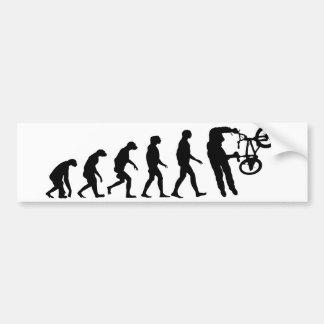 Evolución de BMX Pegatina Para Coche