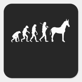 EVOLUCIÓN DE DEMÓCRATA - PEGATINA CUADRADA