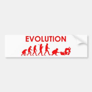 Evolución de Jiu Jitsu Pegatina Para Coche