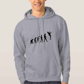 Evolución de la escalada pulóver con capucha