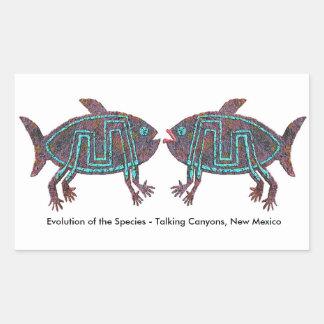Evolución de la especie pegatina rectangular