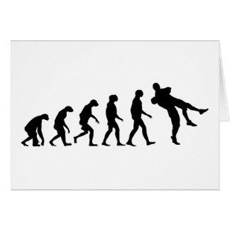 Evolución de la lucha tarjeta de felicitación