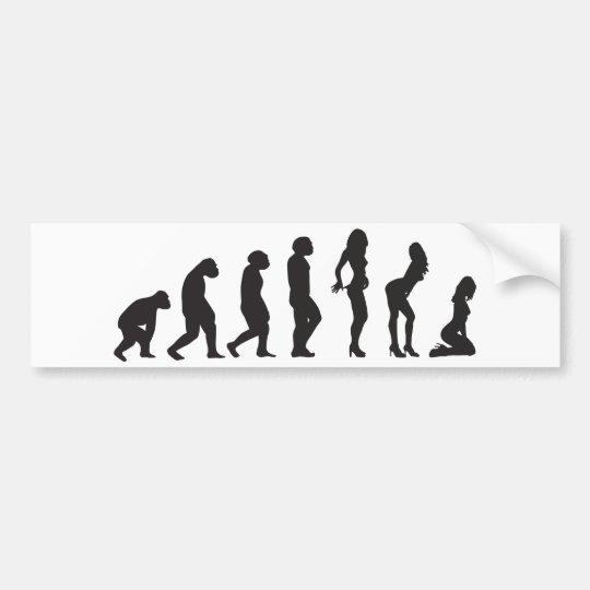 Evolución de la pegatina para el parachoques