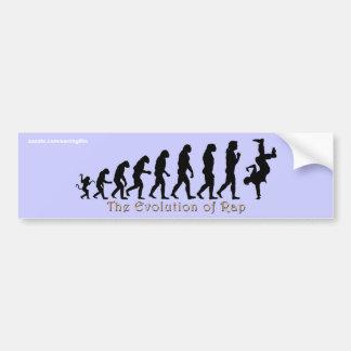 EVOLUCIÓN de las pegatinas para el parachoques del Pegatina Para Coche