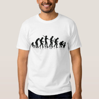 Evolución de los adictos a ordenador camiseta