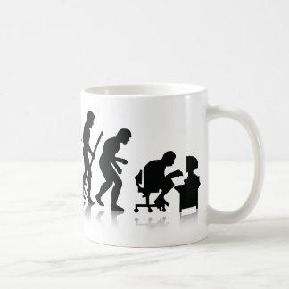 Evolución de los adictos a ordenador taza de café