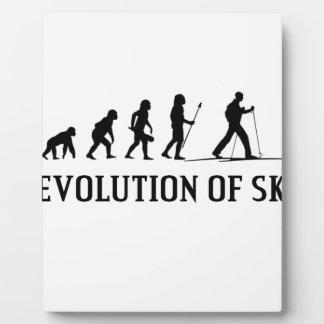 Evolución del esquí placa expositora