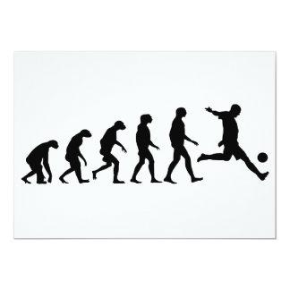 Evolución del fútbol invitación 12,7 x 17,8 cm