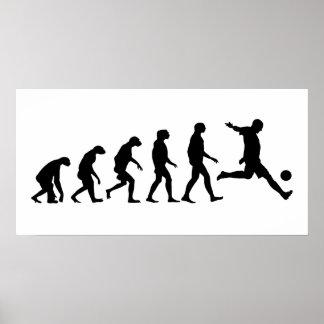 Evolución del fútbol póster