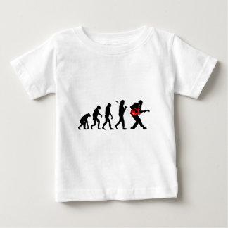 Evolución del guitarrista camiseta de bebé