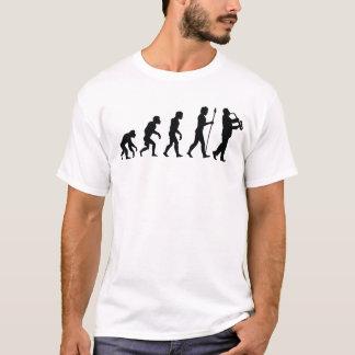 Evolución del jugador de saxofón camiseta