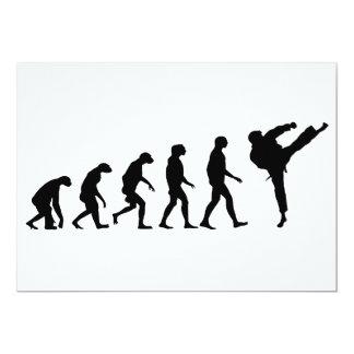 Evolución del karate invitación 12,7 x 17,8 cm