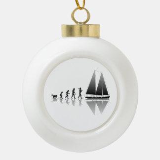 Evolución del marinero adorno de cerámica en forma de bola