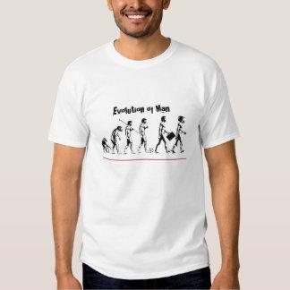Evolución del motocrós del hombre camisetas