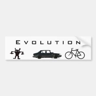 Evolución del transporte pegatina para coche