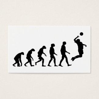 Evolución del voleibol tarjeta de negocios