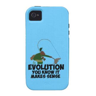 Evolución divertida iPhone 4 fundas