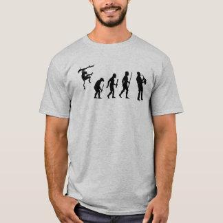 Evolución divertida del saxofón camiseta