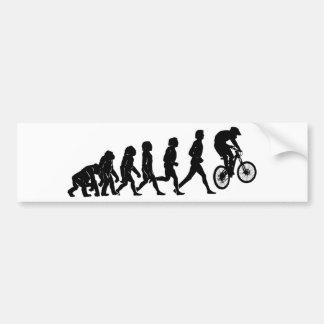 Evolución en declive pegatina para coche