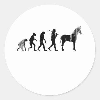 EVOLUCIÓN Faded.png de DEMÓCRATA Pegatina Redonda