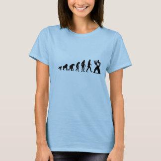 Evolución humana: Camiseta moderna de la flauta