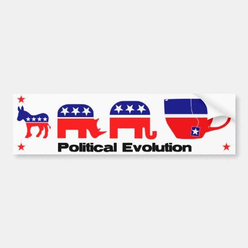 Evolución política pegatina de parachoque