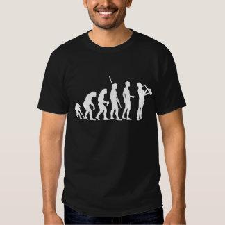 Evolución saxophon camiseta