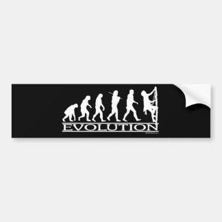 Evolución - subiendo pegatina para coche