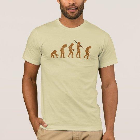 Evolución T para hombre del bastón Camiseta