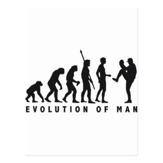 evolution baseball tarjeta postal