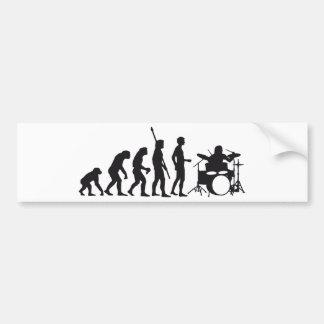 evolution drummer pegatina para coche