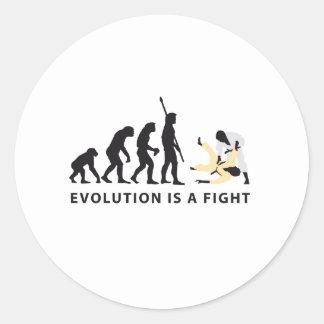 evolution judo pegatina redonda