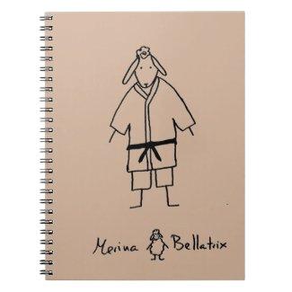 Oveja judoka cuaderno