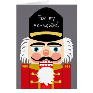 Ex marido del navidad grosero divertido del tarjeta de felicitación