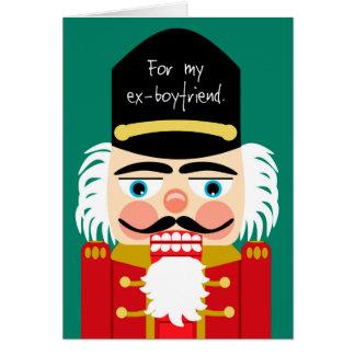 Ex novio del navidad grosero divertido del tarjeta de felicitación