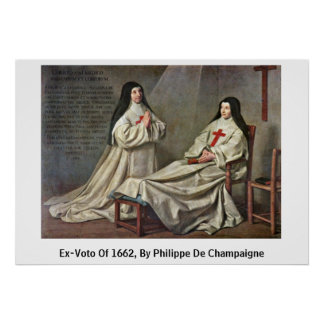 Ex-Voto de 1662, por Felipe De Champaigne Póster