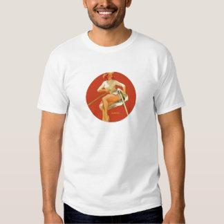 Excavación modela del vintage profundamente camisas
