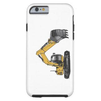 Excavador amarillo grande funda para iPhone 6 tough