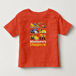 Excavadores gigantes conocidos de los cavadores de camiseta de bebé