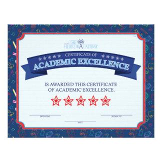 Excelencia académica folleto 21,6 x 28 cm